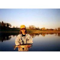 Tom with a nice backwater walleye