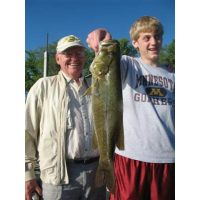 A Giant smallmouth for the kid