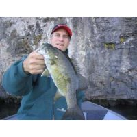 A very nice smallmouth caught on a shad rap