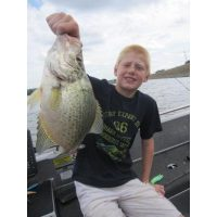 Giant 2lb 5oz crappie for this youngster. He caught it on a shad rap!