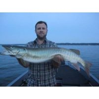 He caught his first musky ever in an hour. It was 44