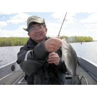 His very first Minnesota fish was a white bass! Sam went on to catch 75 more