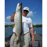His very first Musky was a Tiger Musky from Lake Elmo. He caught it at 10am