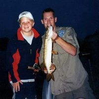 Northern pike caught in the early years of Mighty Musky guide service.