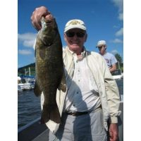One of many huge smallies caught that day! They were many over 20