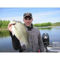 spring time is great to white bass. This guy and his friends found that out with a rapala