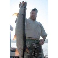 This was the first of 3 Muskies caught that day. It was 44
