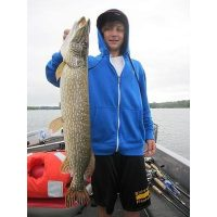 This young man from California displays a very nice metro pike.