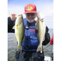 Two nice fish caught after a cold front on 700 series spoonplugs