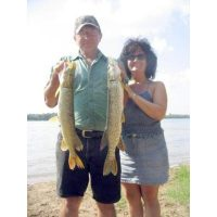 Two of many nice northerns caught on minnows that day under bright conditions.