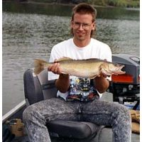 Another river walleye for Tom