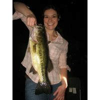 Beautiful Laura Stevenson with a big bass