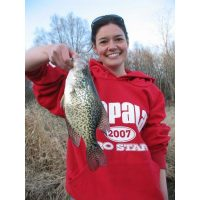 Big crappie for Laura