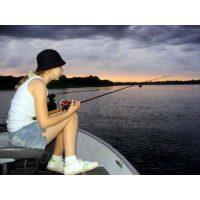 Emily Stevenson enjoying a wonderful evening on Lake Elmo