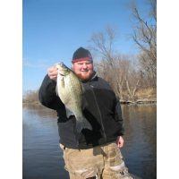 Good friend of Josh and Blue Ribbon employee Kevin Kiewel with a giant white bass