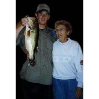 Grandma Stevenson and Josh with a big bass