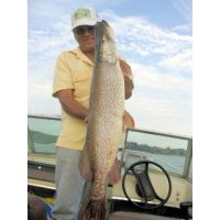 Josh\'s fishing buddy Mike Auer with an 18lb 5oz Northern pike