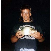 Tom Knutson with a bass
