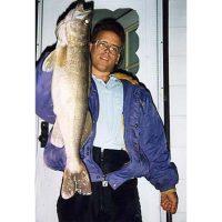 Tom Knutson with a 9lb 3oz walleye