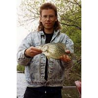 Tom knutson with a Mississippi crappie