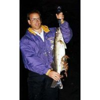 Tom with a shoreline caught walleye